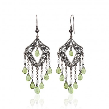 Peridot Dangling Earrings