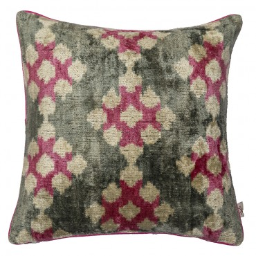 Velvet ikat Pillow