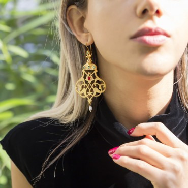 Pomegranate Design  Earrings