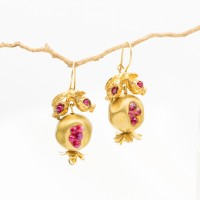 Pomegranate Earrings